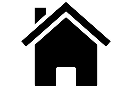 black bold simple house icon